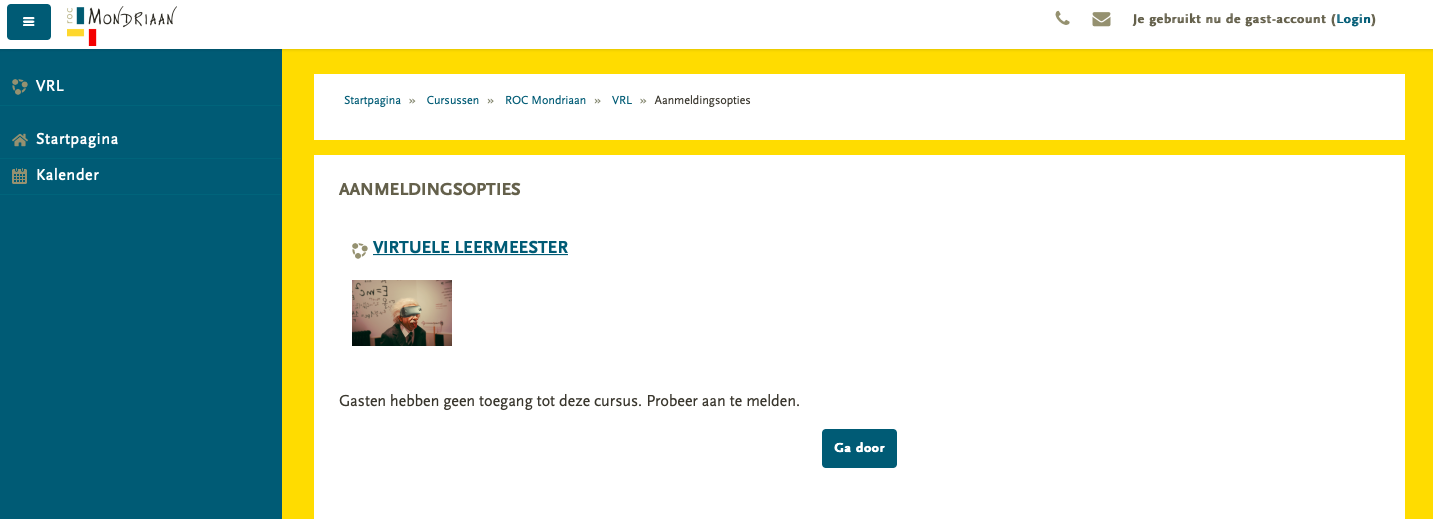 VirtueleLeermeesters en eLearning ROC Mondriaan